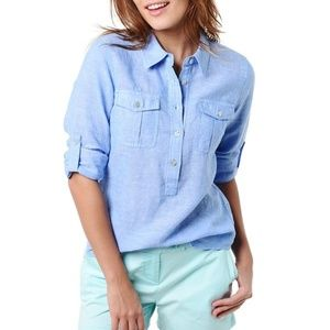 Vineyard Vines Chambray  button  shirt blue 2